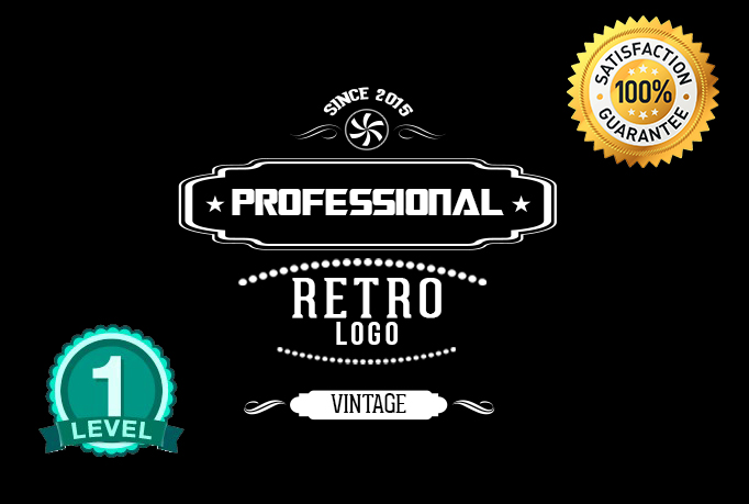 make 2 BEAUTIFUL Vintage retro Logo
