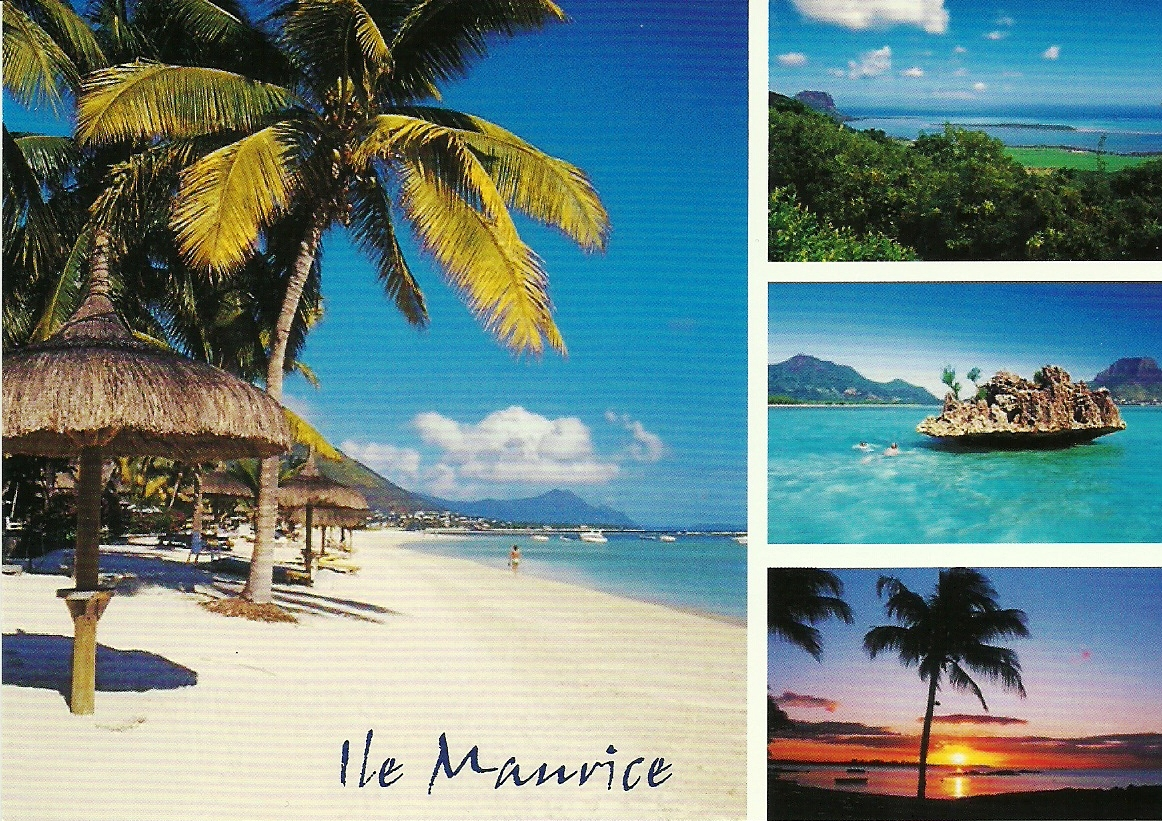 send 3 postcards from Mauritius Island