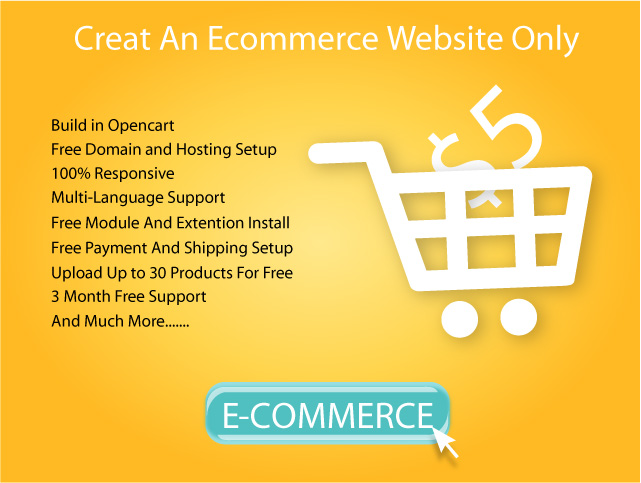 create a beautiful Ecommerce Website Only