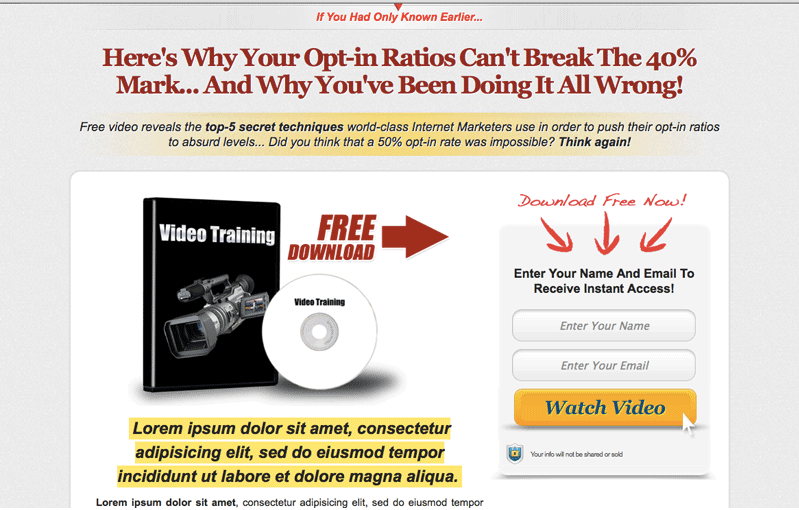 send you 11 of my Highest converting Professional squeeze pages