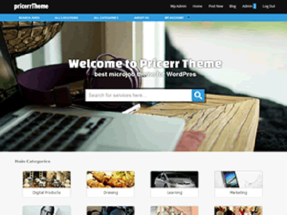 give you a micro jobs wordpress theme