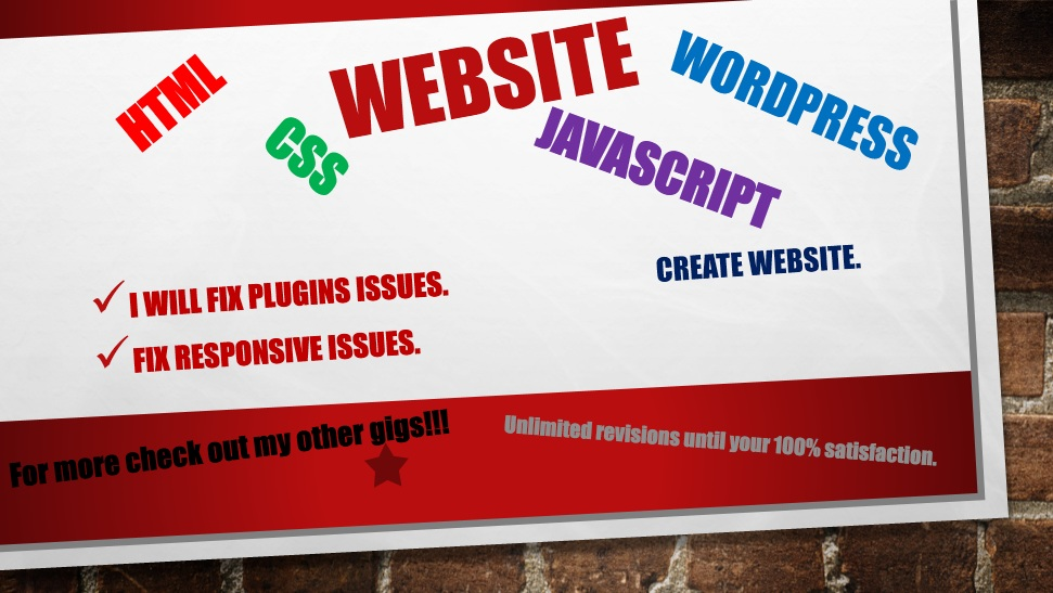 create responsive wordpress website