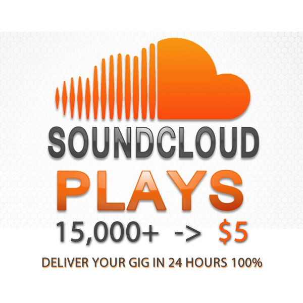do 15.000 REAL Soundcloud Plays on your Track in just 24 hours