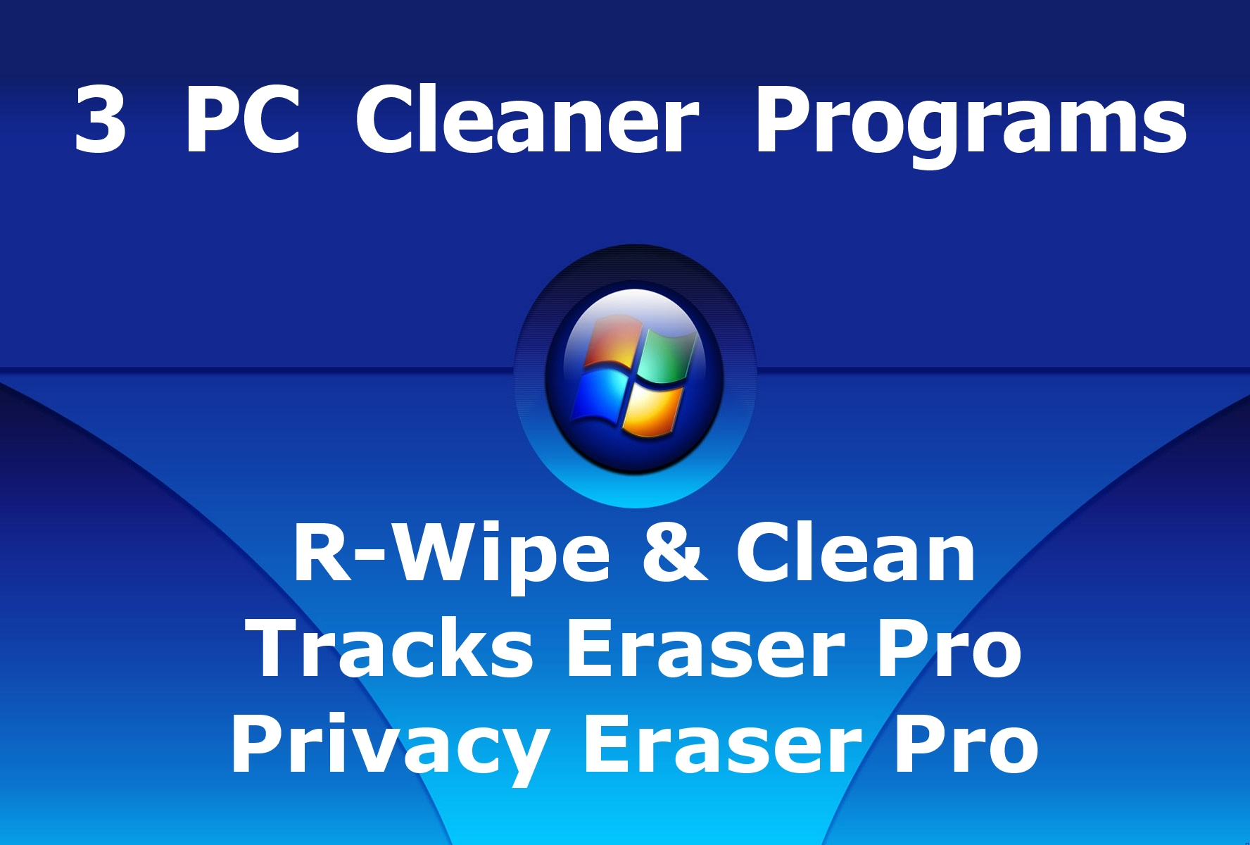 Give 3 PC Windows Cleaner Eraser Programs to Clean Computer Cache Browser History