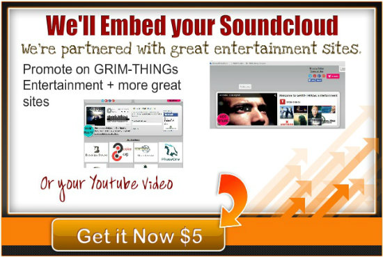 embed your soundcloud or youtube video on my sites