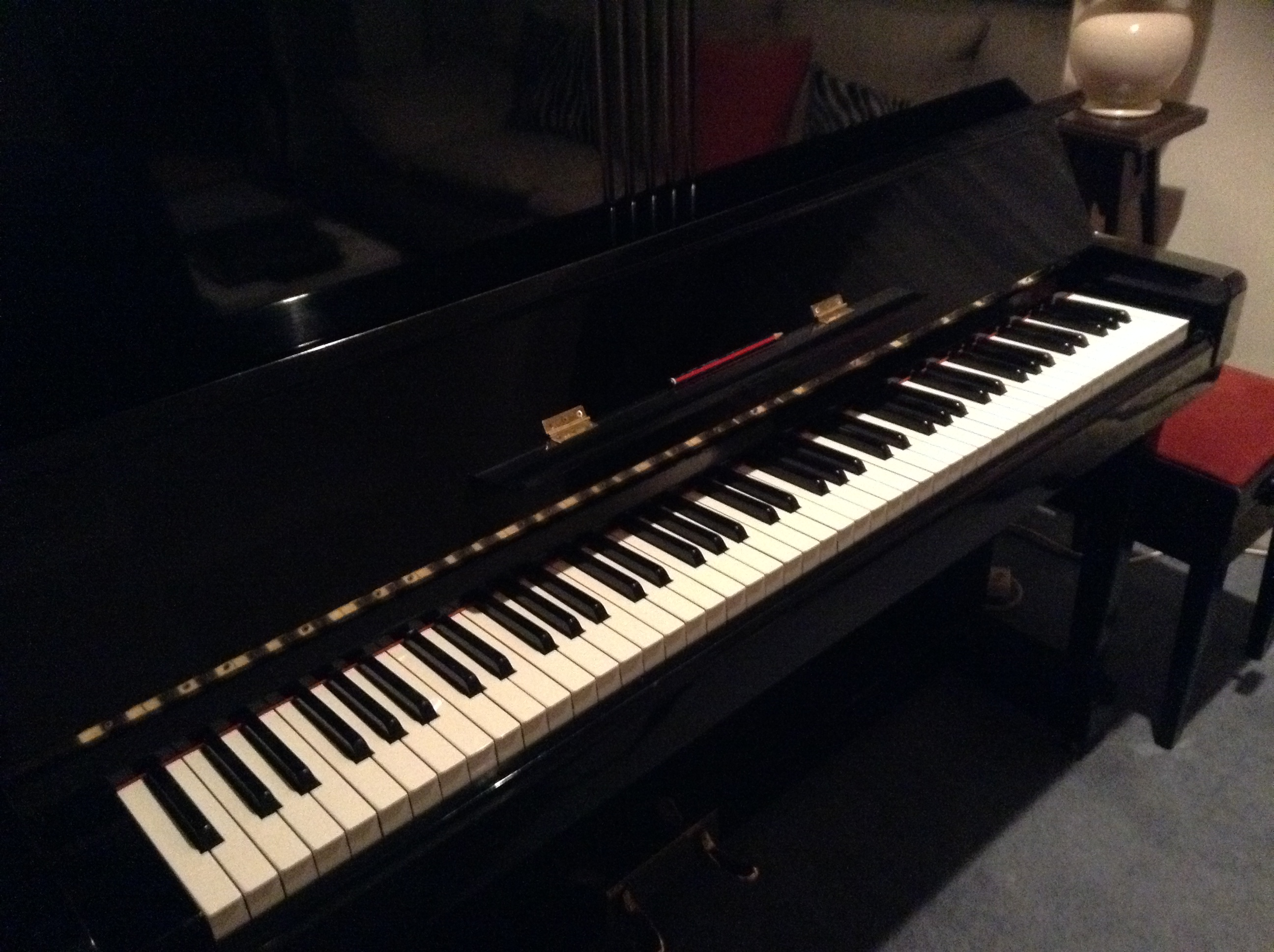 record the piano part for solo song, aria or vocal part