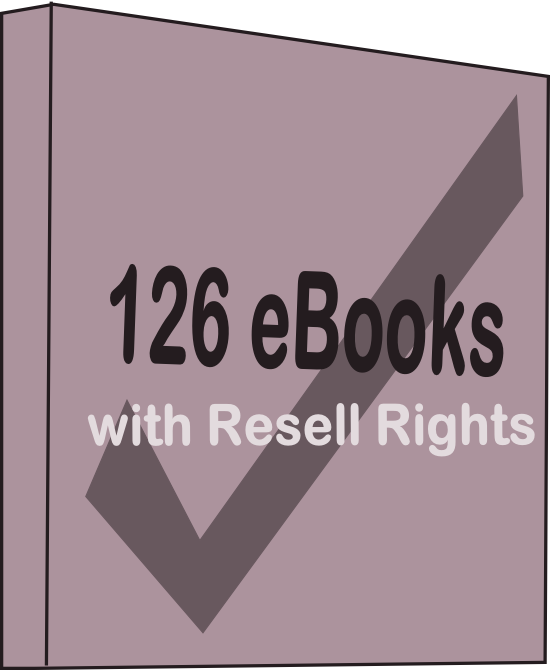 send you 126 ebooks on various niches with resell rights