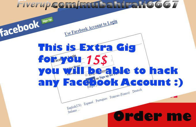 teach you how to hack any Facebook account