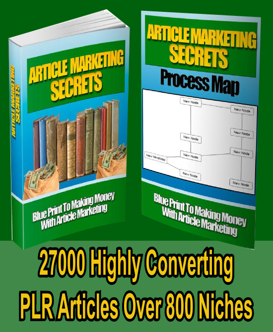 send you article marketing secrets ebook with 27000 plr articles on 800 niches