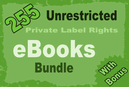 provide you with 255 unrestricted plr ebooks with 7 platinum ebooks
