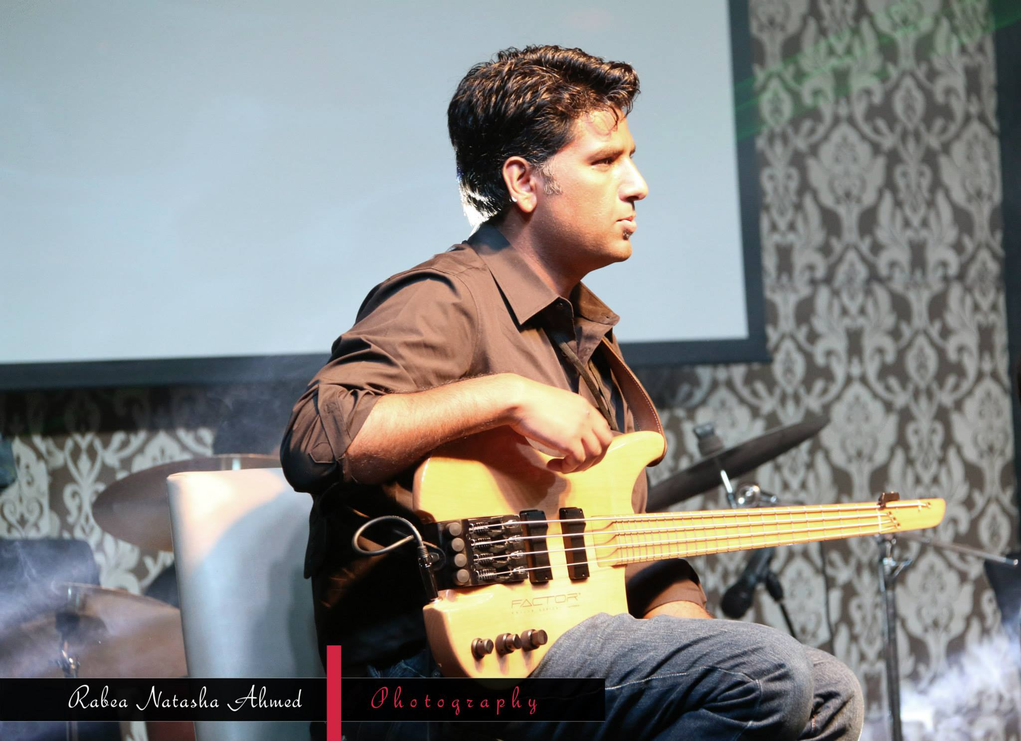play BASS guitar on your track
