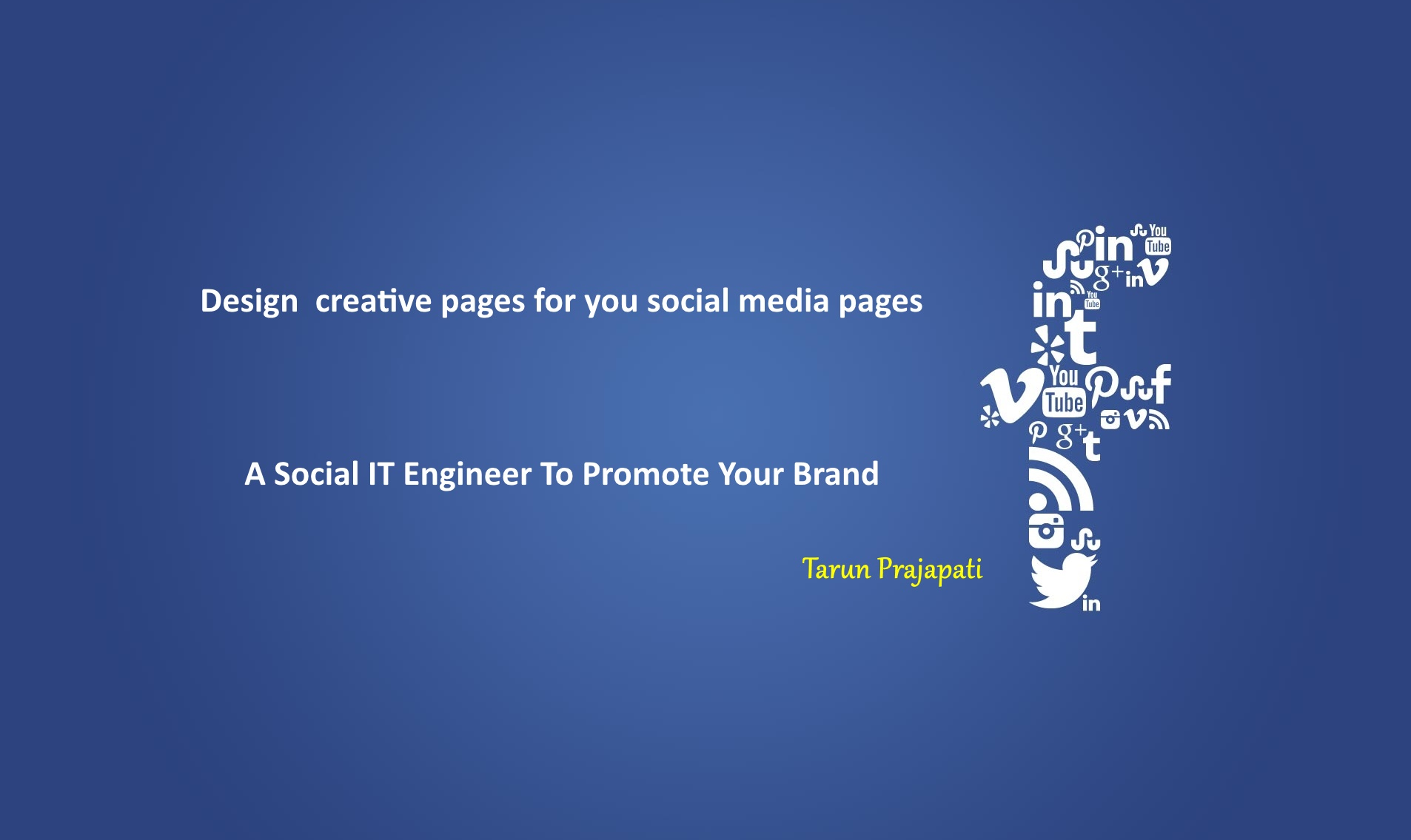 make creative pages for Facebook and twitter
