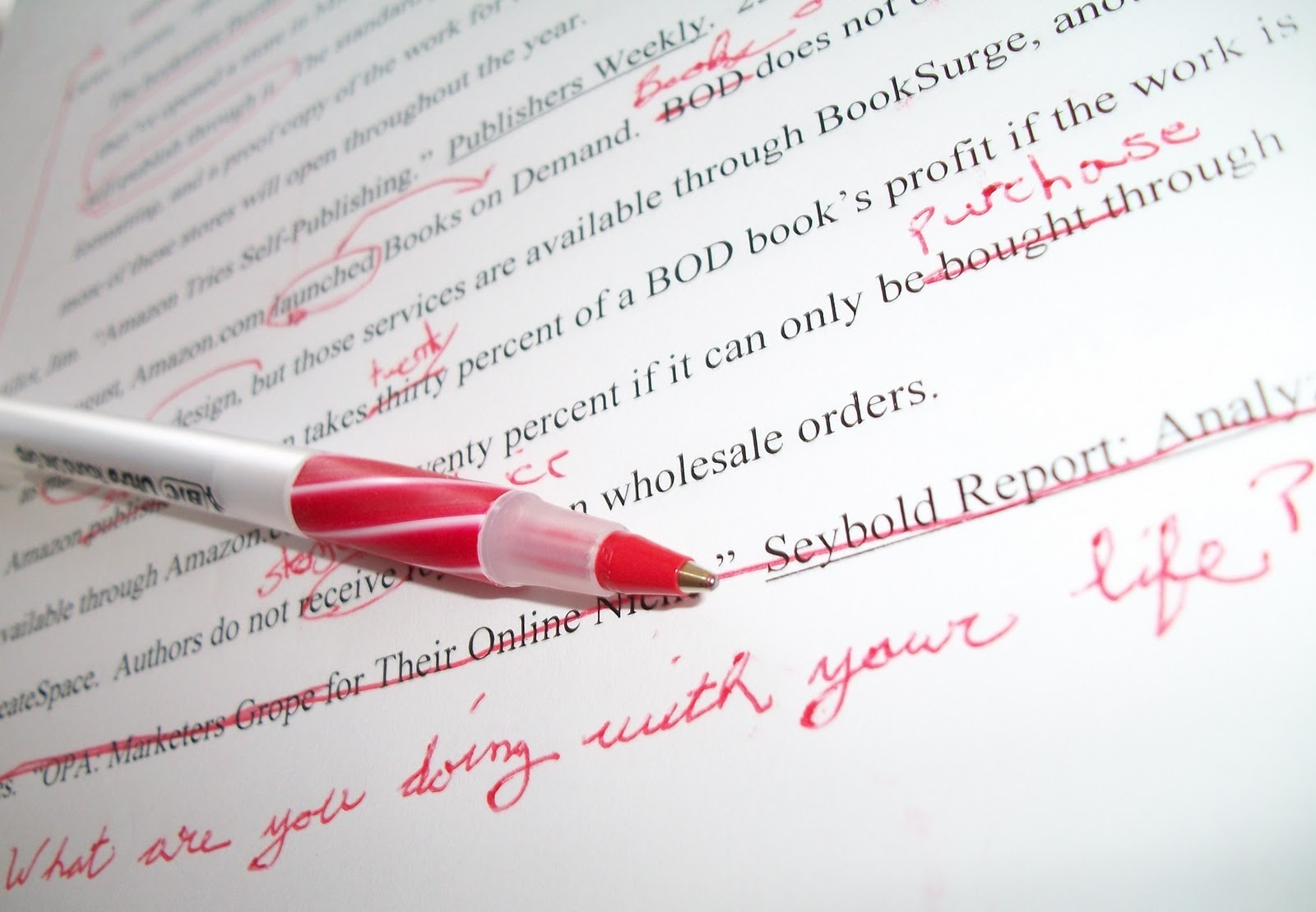 Proofread and edit a document