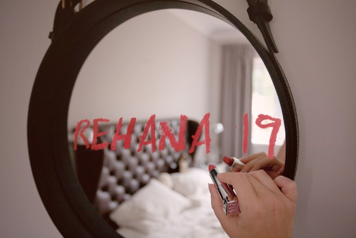 write your name,logo,ebook name anything with lipstick on mirror
