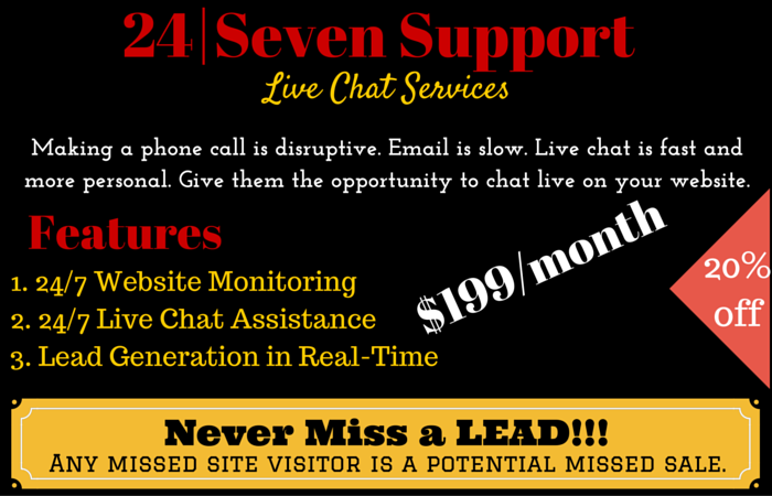sell Live Chat Software and/or Service 24/7
