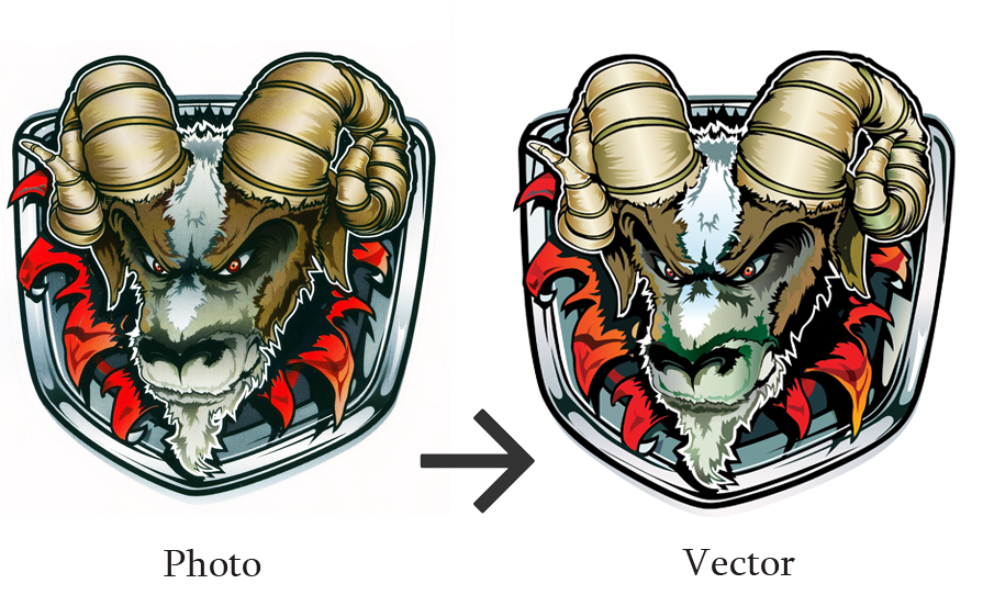 redraw and PROFESSIONALLY vectorize your logo or graphic