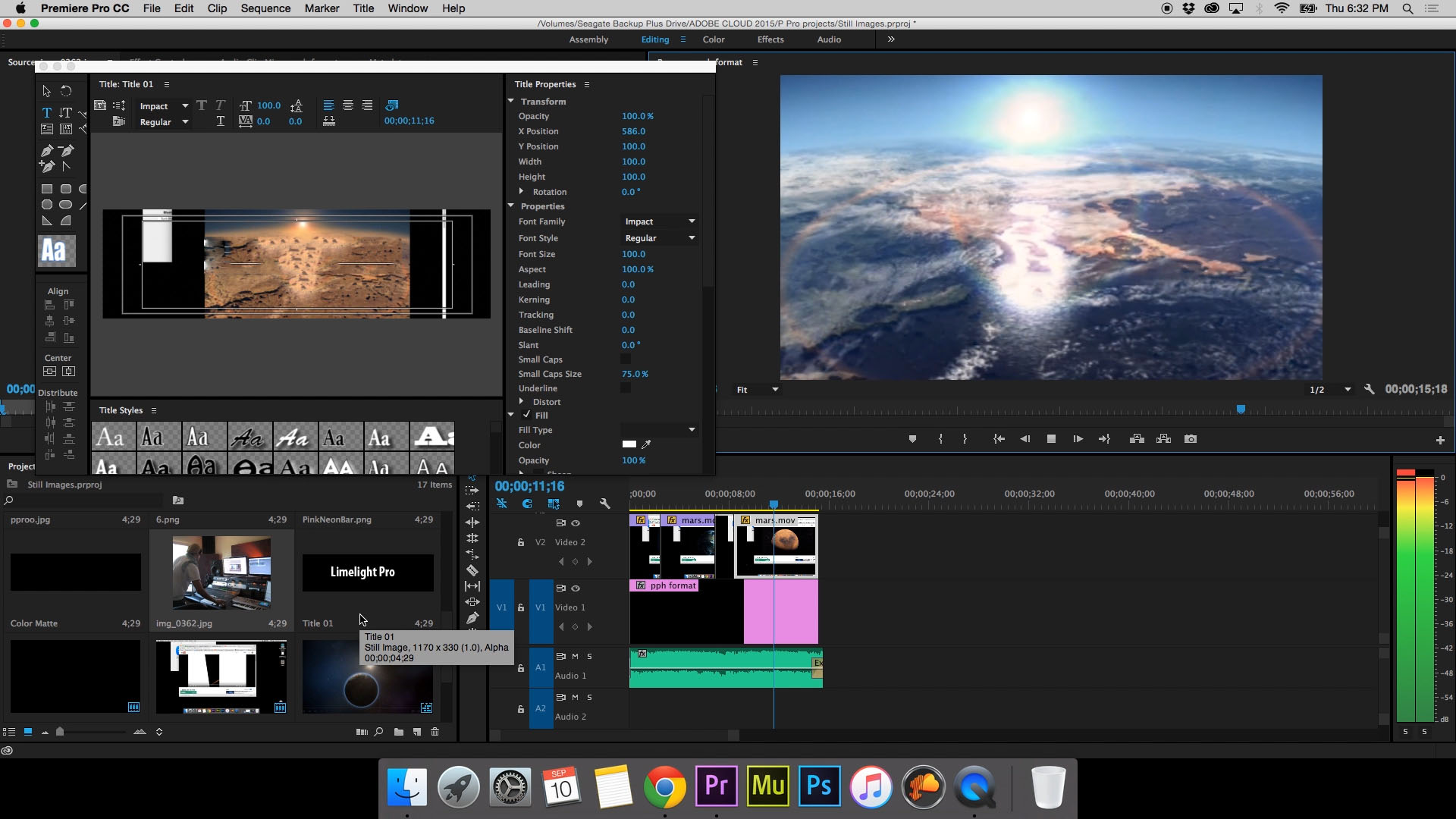 Professionally edit your video in Adobe Premiere Pro