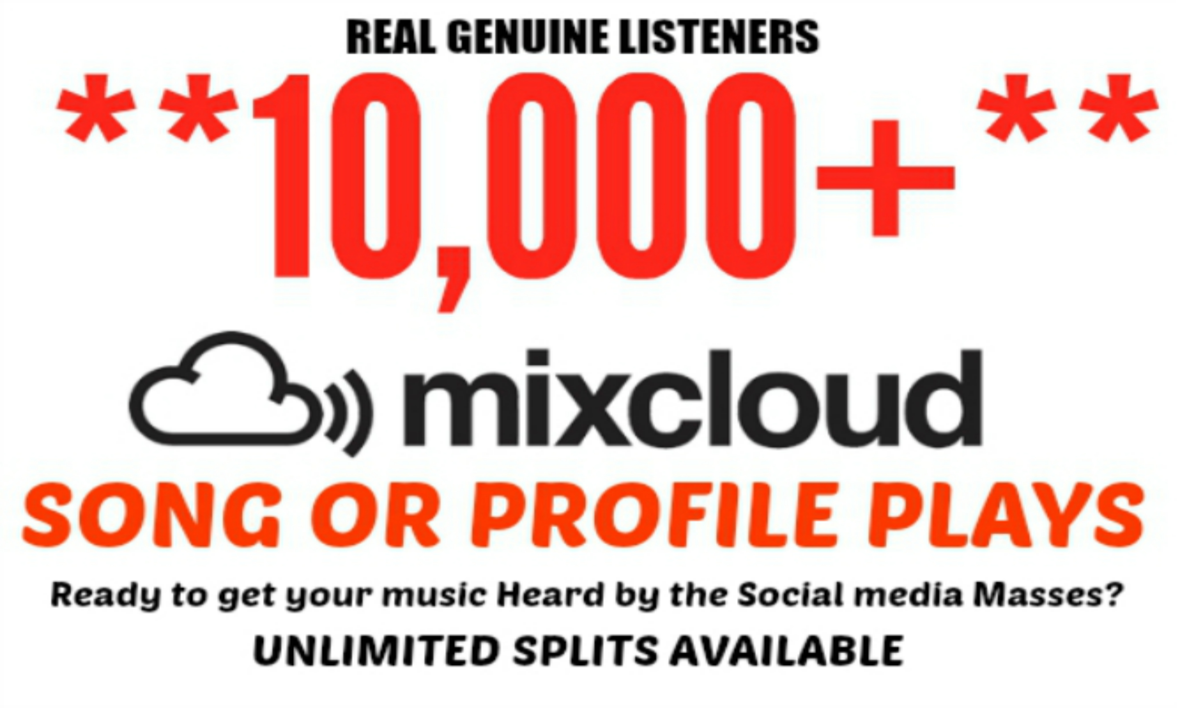 drive 10,000+ Mixcloud Plays To Song or Profile