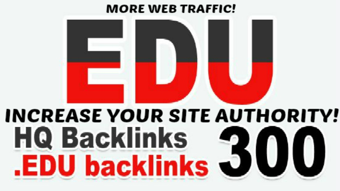 build 300 EDU SEO Backlinks Manually