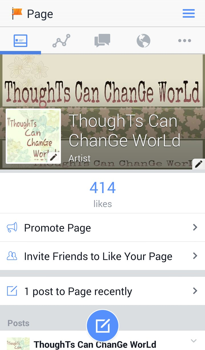 share your blog/website/posts/videos on my Facebook page
