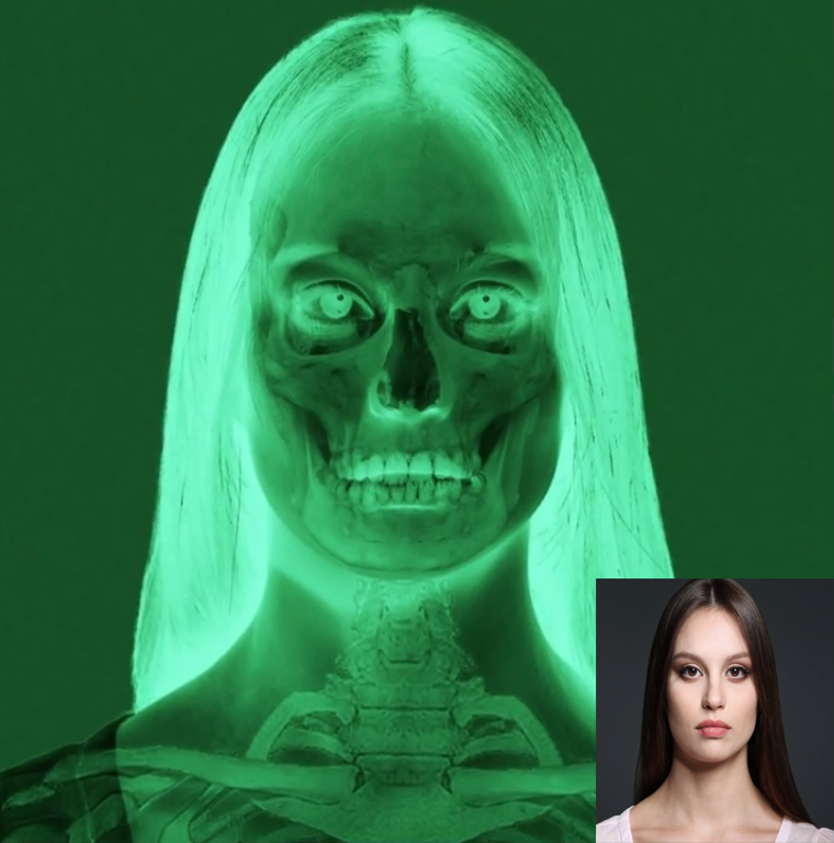 create an Eerie, Bone Chilling, X Ray of a Face