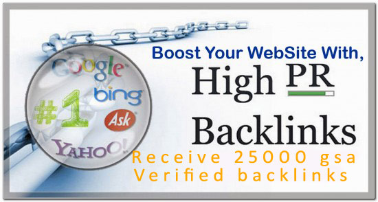 build 25,000 GSA Ser backlinks for seo ranking