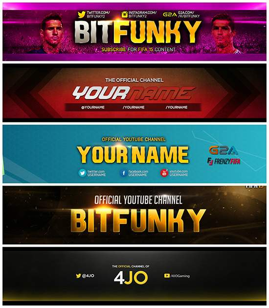 Design YouTube banners/thumbnails