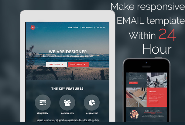 design responsive html email template