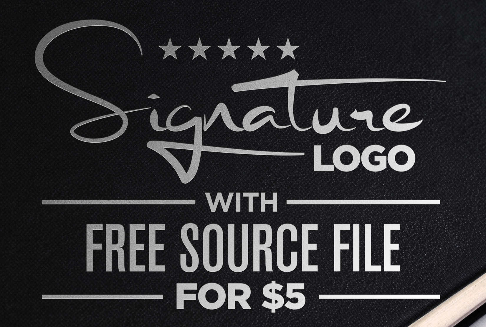 design 2 stylish signature logo with free source file