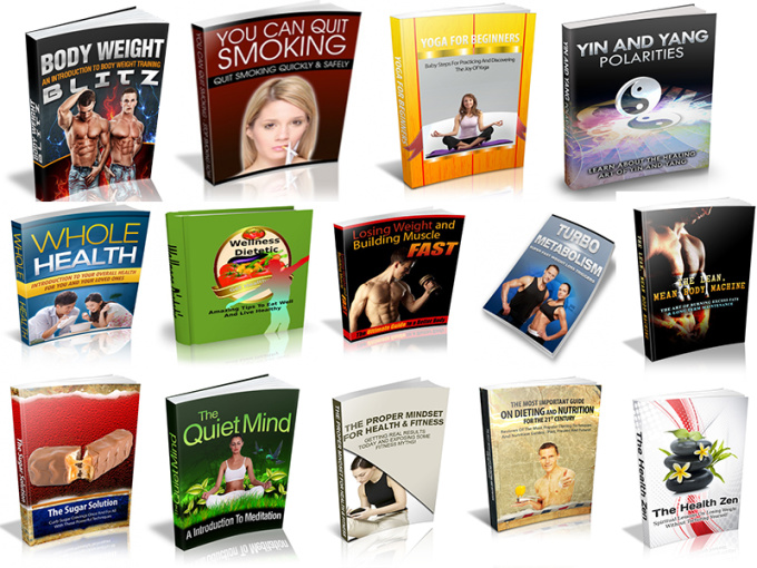 give you 100 Fitness and Health ebooks