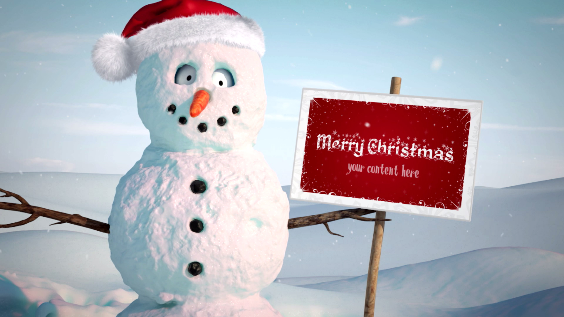 give 3D Character Bobby Merry Christmas Greeting Video