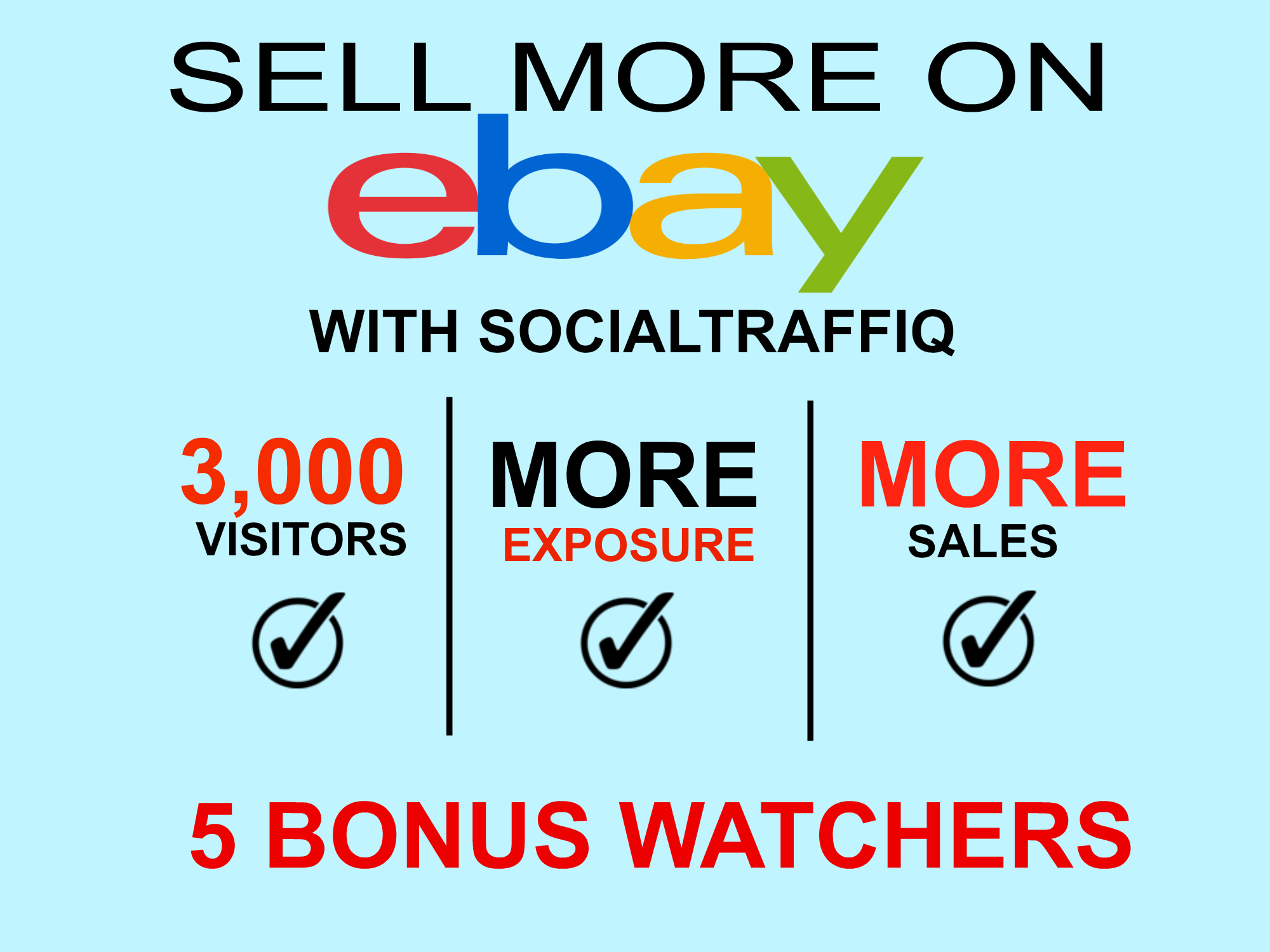 Deliver 3,000 views and 5 watchers for your ebay product