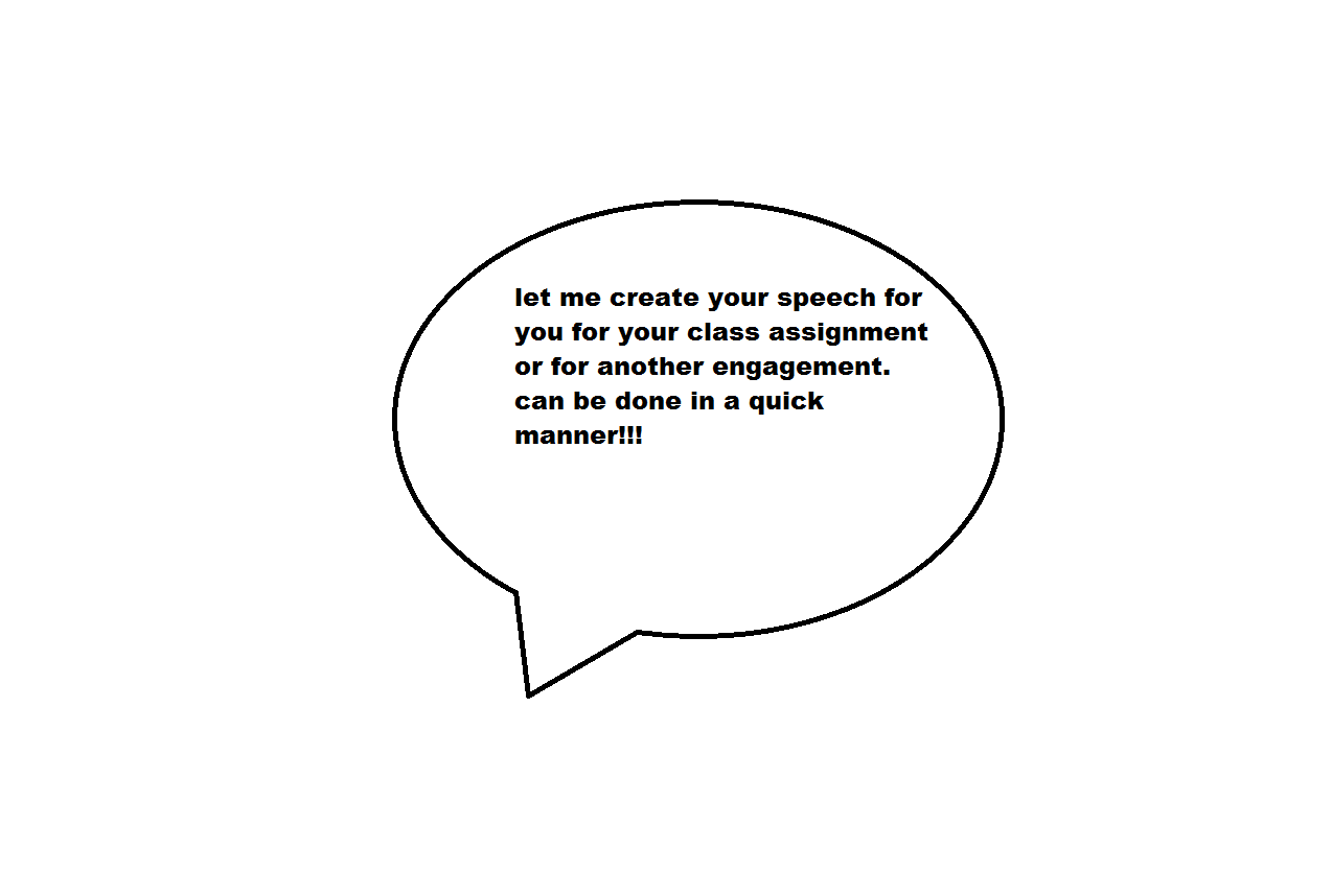 write your speech for you for public speaking