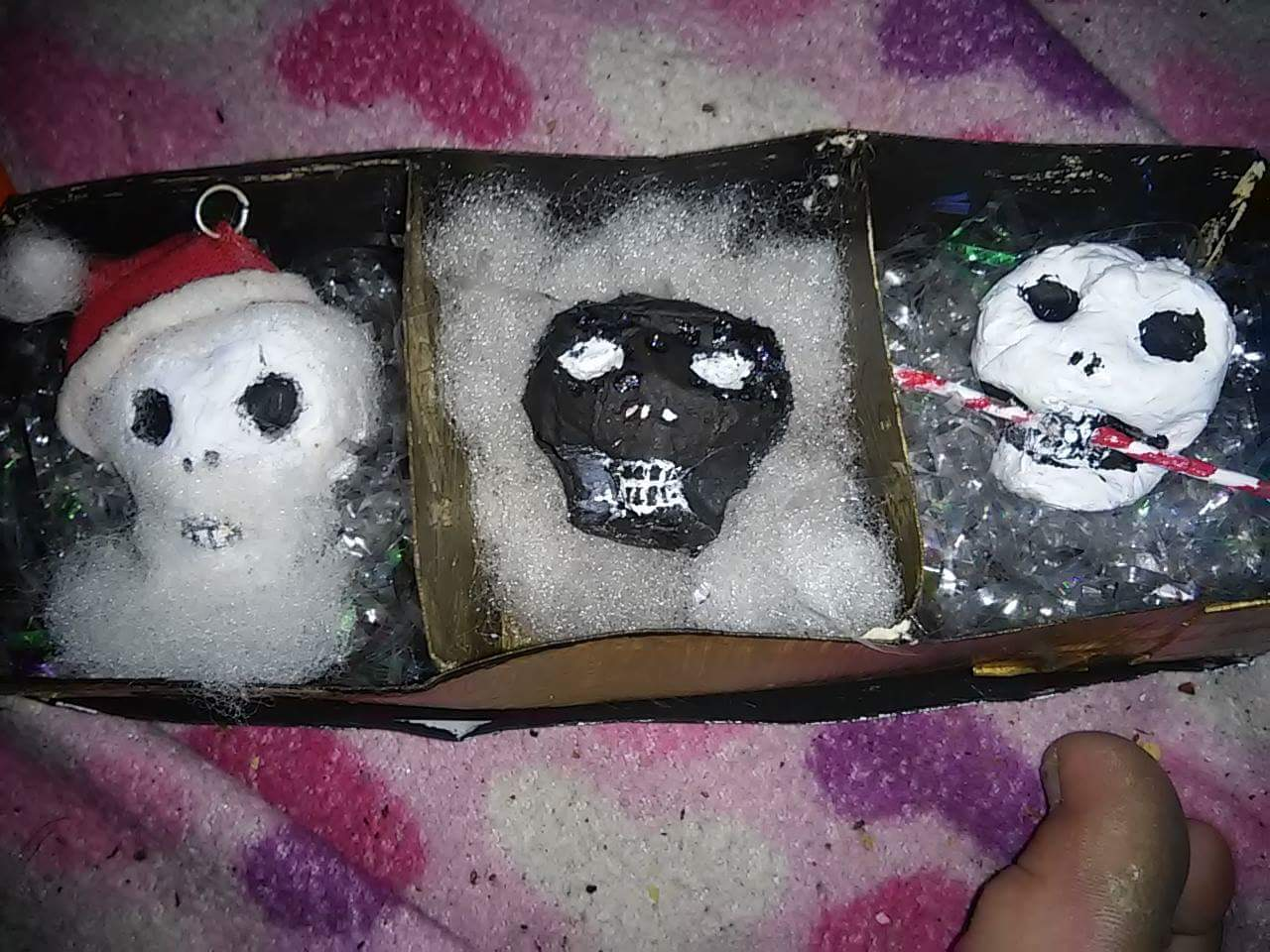 Make a one of a kind skull ornament