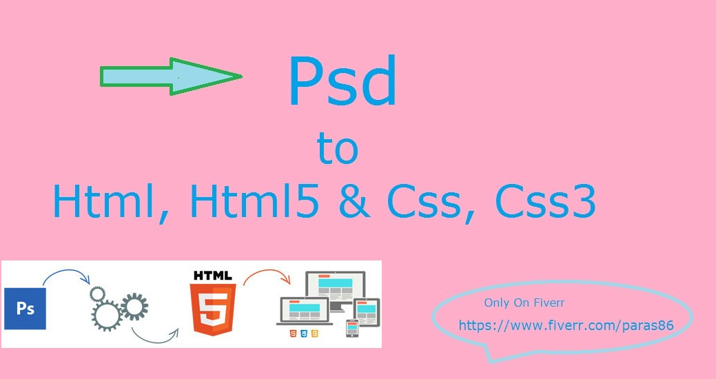 convert Psd to Html, Html5 and Css, Css5