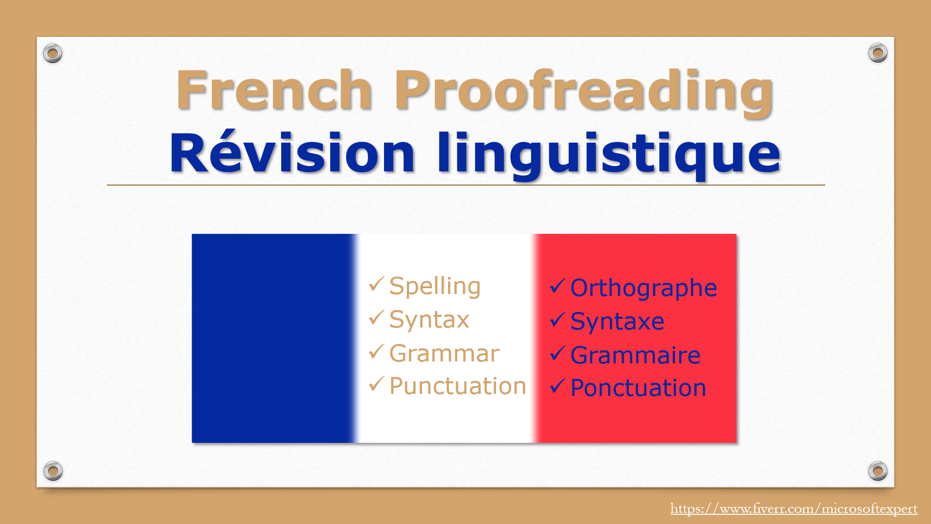 proofread up to 500 French words
