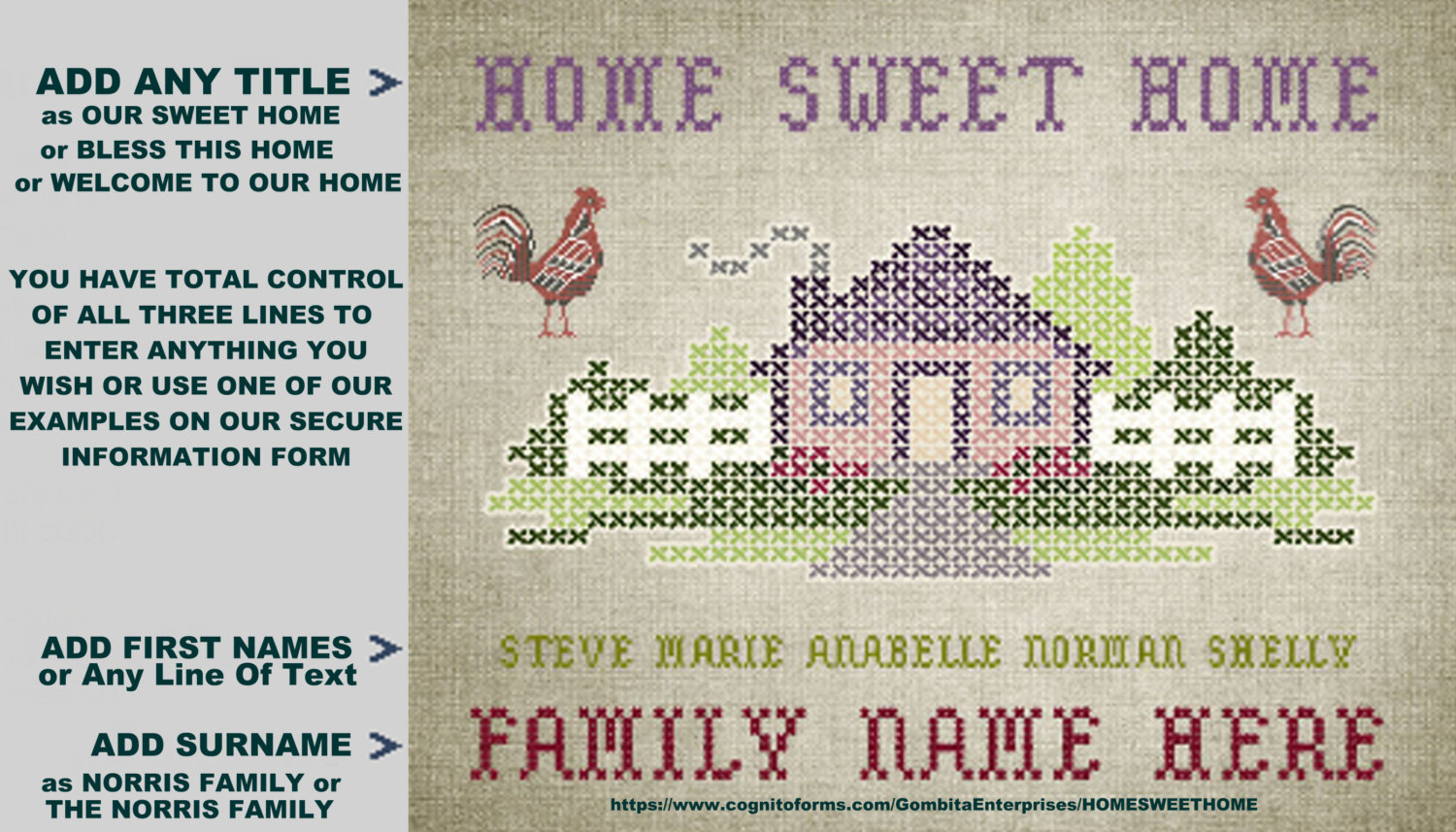 Personalize a Home Sweet Home