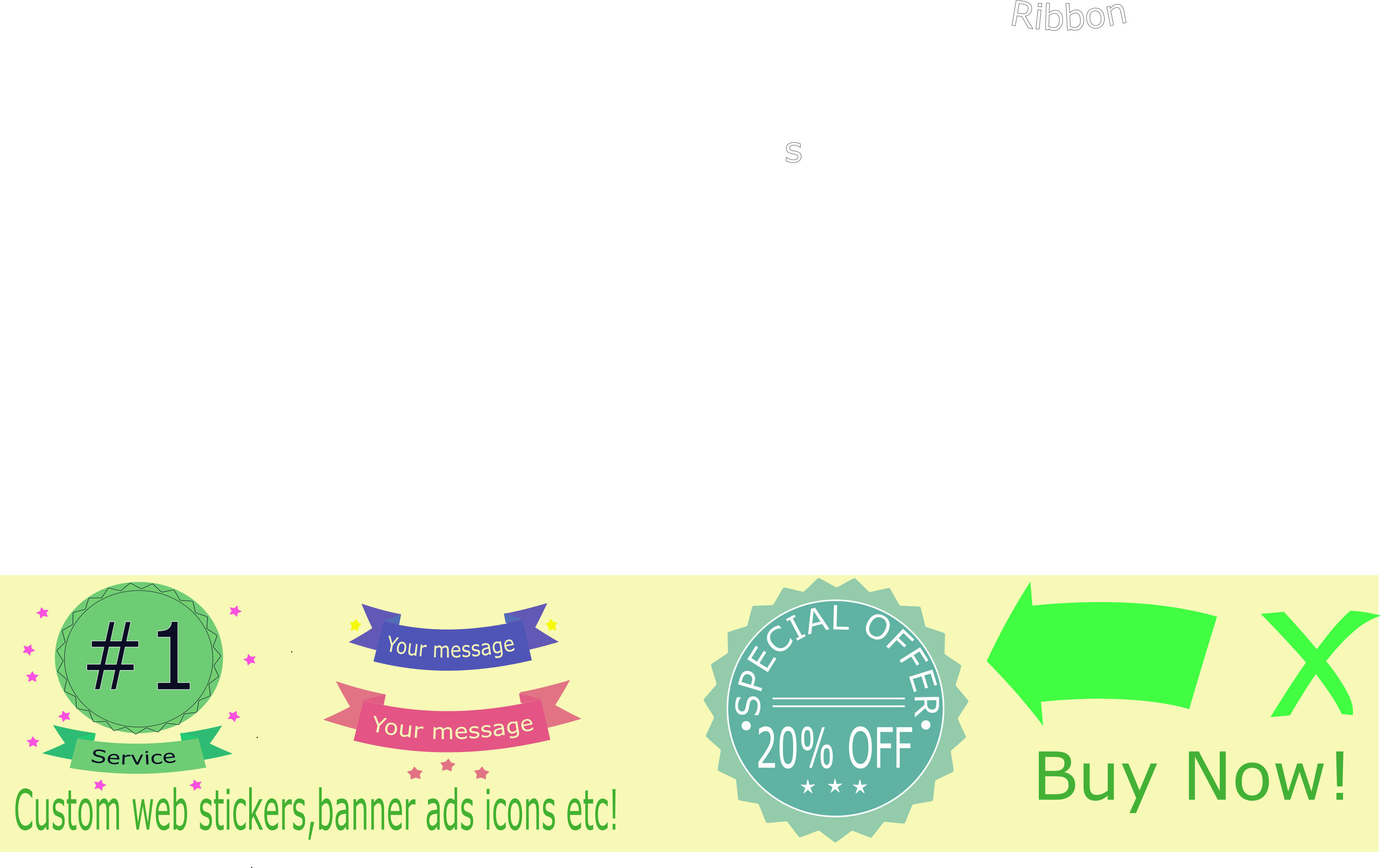Build ad banners, backgrounds,icons,stickers etc