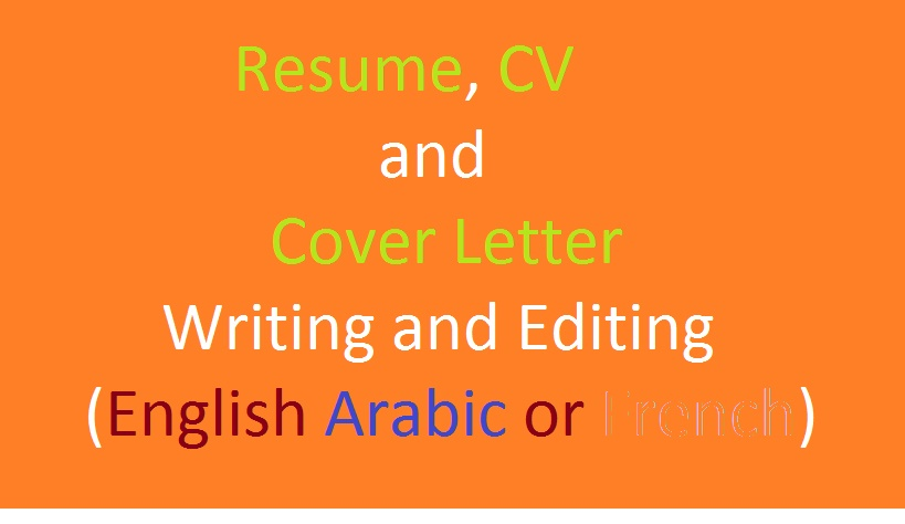 write or edit your resume,cv and cover letter