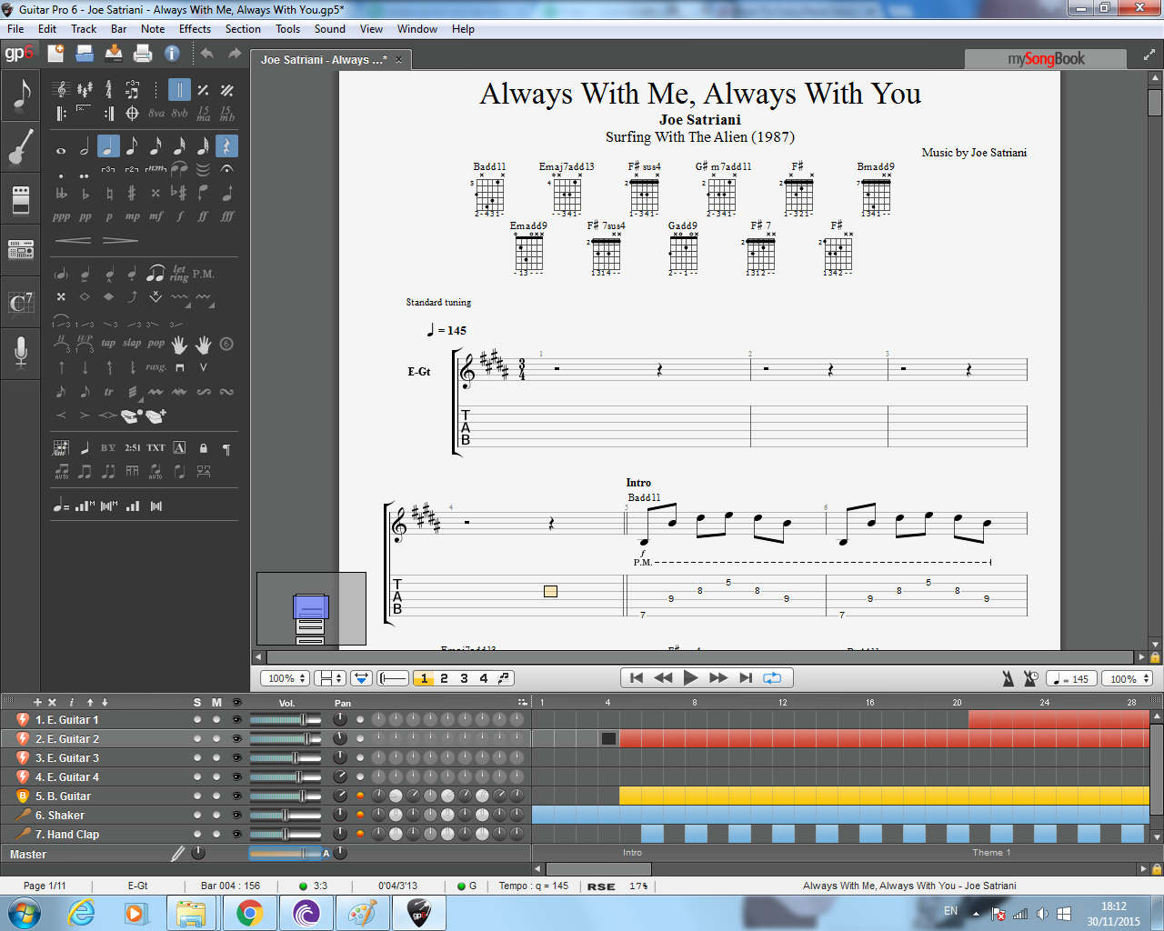 transcribe from tab to Guitar Pro
