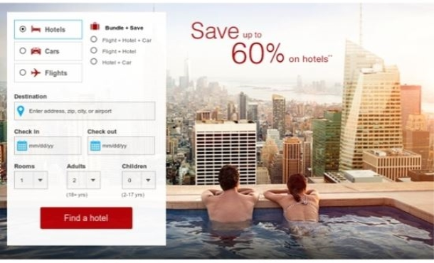 find the cheapest rates for hotels, flights, car rentals for