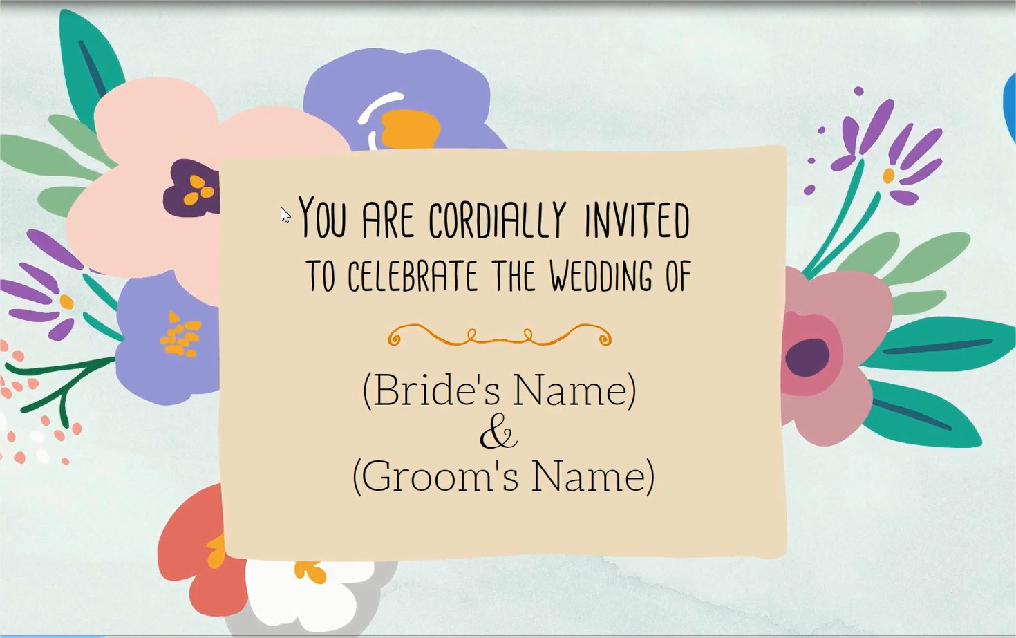 create animated wedding invitation video