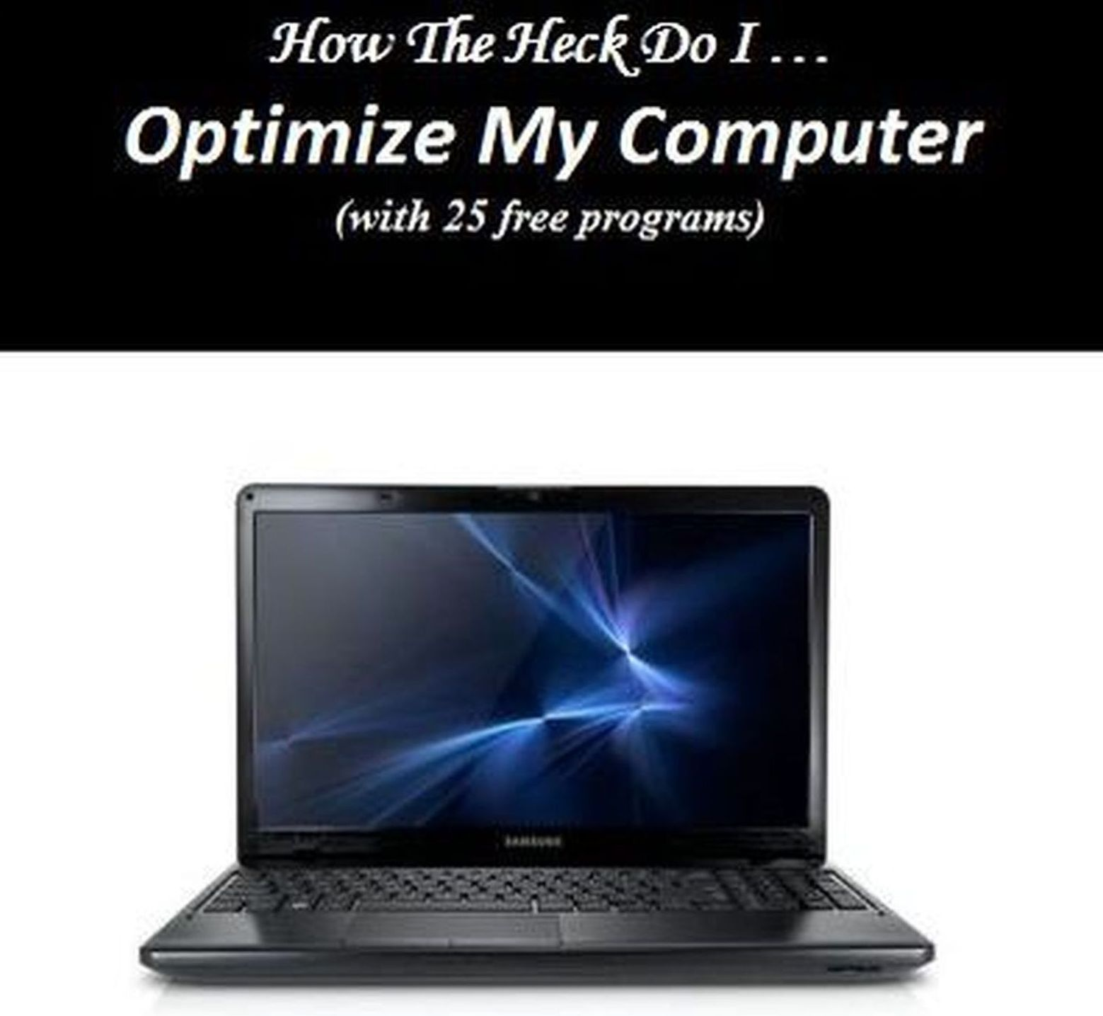 optimize and hopefully speed up your computer to peak performance