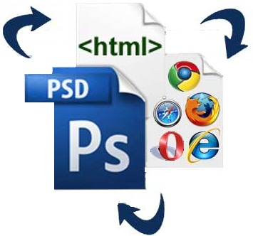 compile your jpeg/png design into HTML/css