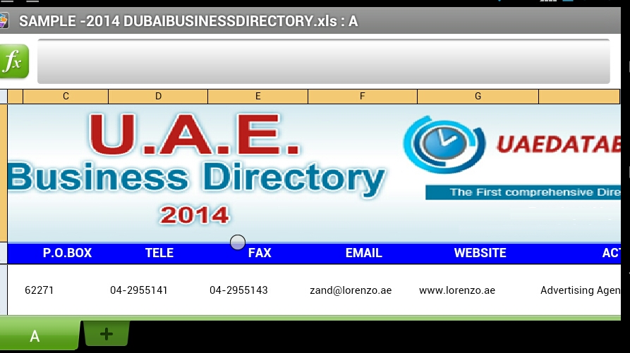 give you 2014 Dubai Business Database and all other cities in Excel Format