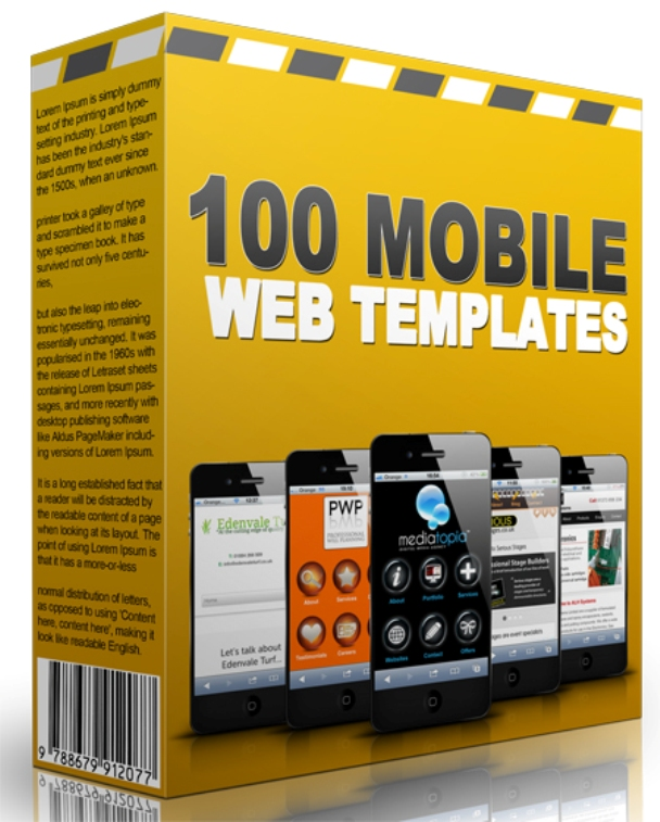 give you 100 Mobile Web Templates