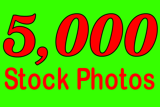 give package of 5000 royalty free stock photos