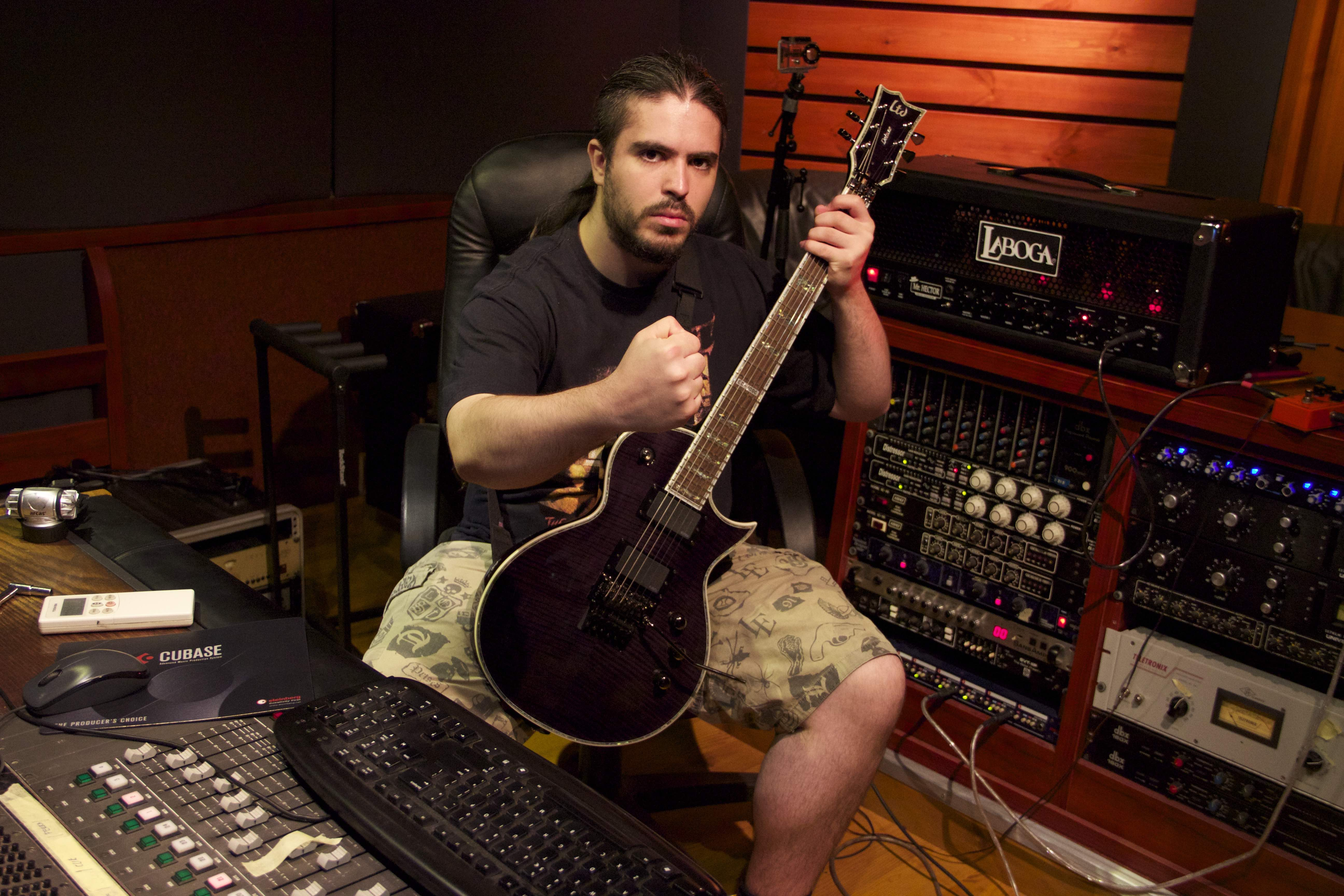 record killer guitar riffs and solos professionally