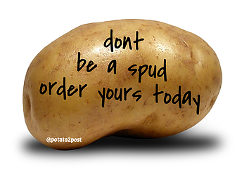 Send a anonymous message on a potato to anyone in the UK