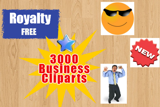 give you my private collection of 3000 Business CLIPARTS